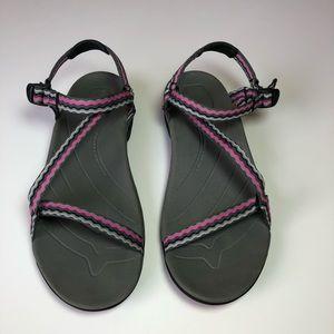 ab0a6b265147c Teva Shoes - TEVA Anatomic Footbed Thin Strap Hiking Sandals